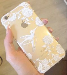 Iphone 5 Phone Case Henna White See Through by StudsandSkulls Iphone 6s Plus Rose, Capa Iphone 6s Plus, 5s Phone Cases, Phone Cover, Cellphone Case, Coque Iphone 4, Cool Cases, Iphone Accessories, Mobile Accessories