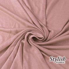 MAUVE Rayon Jersey Knit Fabric MAUVE Tissue Knit Fabric by the yard Apparel Dress Shirt Arts and Crafts Fabric - 13237
