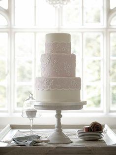 Dusky Lace Wedding Cake Zoe Clark Cakes