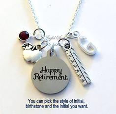 Teacher Retirement Gift Necklace Principal by aJoyfulSurprise