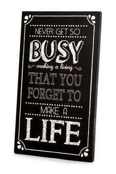 Black and White Make a Life Art Panel by Twelve Timbers on @HauteLook