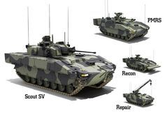 Pictures of the General Dynamics Scout SV - Armored Modular Fighting Vehicle (AMFV).