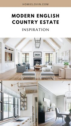 Looking to decorate with luxury, space, and creamy hues? This modern country estate will give you all the inspiration you need for that and more!#modernfarmhouse #homedecordesign #farmhouseideas #homedesign #furnitureinpsiration #farmhousedecor #homeideas Farmhouse Homes, Farmhouse Kitchen Decor, Farmhouse Design, Country Estate, Modern Country, Diy Furniture Flip, Modern Style Homes, Classic House, Scandinavian Style