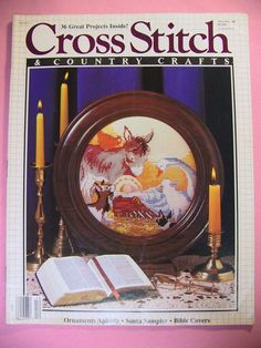 Cross Stitch & Country Crafts Magazine Nov/Dec 1988 Issue with 36 Projects