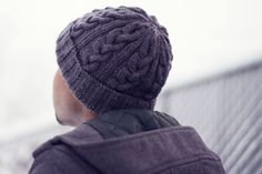 ~Hat Most Likely To Succeed – Finished Object ~ great knitted hat idea for any guy you love! My hubby wears his all the time.