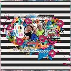 Template: Two Tiny Turtles - Treasured Memories  Kit: Libby Pritchett and Melissa Bennett - Live Out Loud