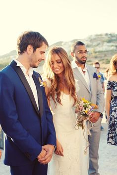 sea-inspired summer wedding in Greece with photos by Photopek | via junebugweddings.com