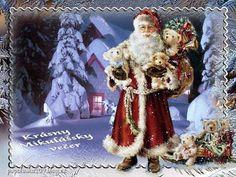 Krásny mikulášsky večer! Santa, Painting, Painting Art, Paintings, Draw
