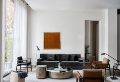 A wonderful mix of varying textures and finishes come together to create an elegant and inviting living space. Pictured: James sofa, Belt coffee tables, Teresa armchairs, Charlot pouf. Design by Andrea Parisio. #meridiani #meridianilivinginteriors #meridianiusa #madeinitaly #interiordesign #interiorspaces #designinspiration #interiordecor #furnituredesign #interiorarchitecture #homeinterior #designideas #livingroomdecor #designerinteriors #moderndesign #homeinspiration Living Room Sofa, Living Room Decor, Living Spaces, Interior Decorating, Interior Design, Outdoor Flooring, Table Storage, Dining Area, Interior Architecture