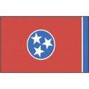 State Of Tennessee - Vinyl Flag Sticker