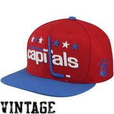 Mitchell   Ness Washington Capitals Vintage XL Logo 2T Snapback Hat - Red fe4a8127d419