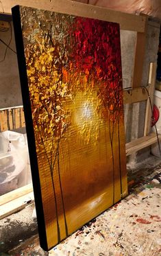 modern artwork thumbnail Source by Abstract Tree Painting, Canvas Painting Landscape, Acrylic Painting Canvas, Abstract Canvas, Abstract City, City Painting, Canvas Art Projects, Modern Artwork, Texture Painting