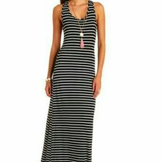 Very long black and white striped maxi dress Only worn once Dresses Maxi