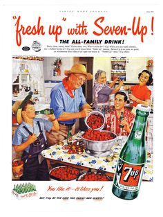 Flip through the past with these vintage advertisements that used everything from lithium and babies to Wonder Woman and Bond villains to sell the Uncola. Retro Ads, Vintage Advertisements, Vintage Ads, Vintage Posters, Vintage Food, Retro Food, Vintage Images, Retro Recipes, Vintage Recipes