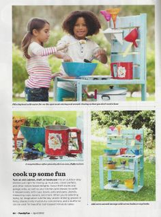 Mud Pie Kitchen for a Kid friendly backyard -