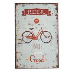 obrazek metalowy, tabliczka Rower   #metal #plate #panel #picture #oldschool #vintage #bicycle #bike