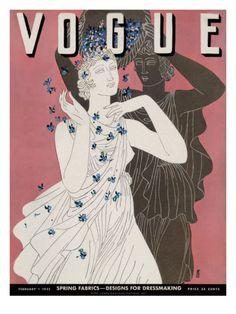 Vogue Cover - February 1 1932 Poster Print by Eduardo Garcia Benito at the Condé Nast Collection