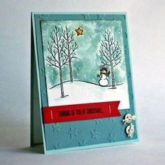 White Christmas - Keep Looking Up by JanTInk - Cards and Paper Crafts at Splitcoaststampers