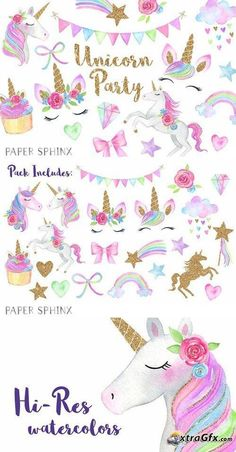 Birthday drawing unicorn 58 Ideas for 2019 Watercolor Unicorn, Unicorn Painting, Watercolor Cards, Watercolour, Unicorn Birthday Parties, Unicorn Party, Birthday Cards, 8th Birthday, Happy Birthday