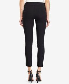 Lauren Ralph Lauren Cropped Stretch Twill Skinny Pants - White 12