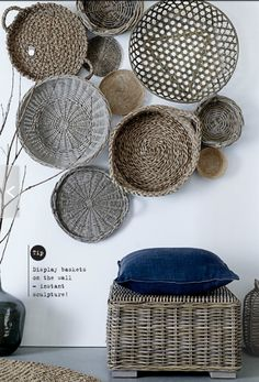 bliss bloom {blog} ~ a craft and lifestyle journal: [The Look] Basket Wall Display