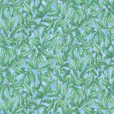 Marcus Fabrics Rainbow Fish Seaweed Lt. Blue | Fabric