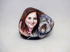 piedras pintadas - retrato niña con perro 5   por pedretaderiu