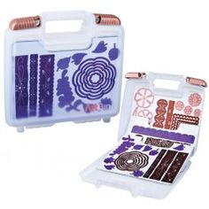 @ArtBinProducts Magnetic Die Storage Case is a clever storage system that allows you to easily view, safely store and instantly access your metal dies.  This case includes 3 custom cut magnetic die sheets for storing your metal dies and each case can accommodate an additional 18 magnetic sheets for a total of 21 when full.  $12.95