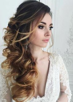 62 Ideas vintage wedding hairstyles for long hair updo for 2019 Wedding Hair Side, Long Hair Wedding Styles, Elegant Wedding Hair, Vintage Wedding Hair, Wedding Vows, Vintage Updo, Trendy Wedding, Long Curly Wedding Hair, Bridal Hair Side Swept