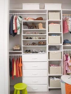 organized child's closet