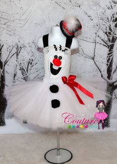 Disney Frozen inspired Olaf tutu dress by SofiasCoutureDesigns, $65.00 For Yaya @Bianca Vargas