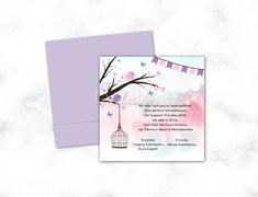 Baptism Invitations, Little Birds, Design, Small Birds