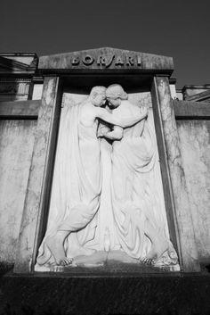 Grave of Borsari Family, Certosa di Bologna Cemetery, Italy