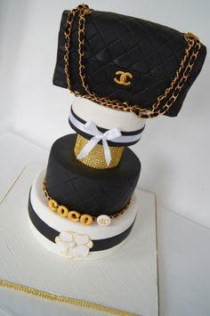 @Kathleen S S S DeCosmo ♥  Chanel  Inspired #Cake