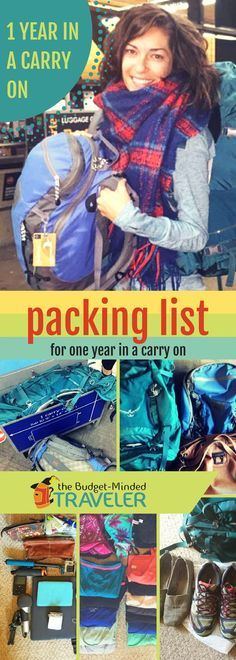 The Ultimate Travel Packing List: A Year in a Carry On Backpack . - The Ultimate Travel Packing List: A Year in a Carry On Backpack More - Carry On Packing, Packing List For Travel, New Travel, Ultimate Travel, Budget Travel, Travel Tips, Packing Hacks, Packing Lists, Travel Style