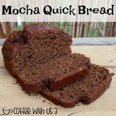 What goes better than a yummy chocolate bread & coffee? For me, pretty much nothing! So I combined both the coffee and the chocolate into this delicious Mocha Quick Bread! I love coffee. It just doesn't feel like morning without my coffee. I also love chocolate! So of course I love mochas. I don't drink them that often as I tend to drink most of my coffee at home. But I love using both of these flavors in my baking. The coffee flavor in the bread is not overly strong as both my chil...