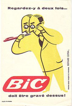 Fix-Masseau Bic Blotter Pub Vintage, Vintage Labels, Vintage Ephemera, Vintage Cards, Vintage Advertising Posters, Vintage Advertisements, Vintage Posters, Poster Ads, Typography Poster
