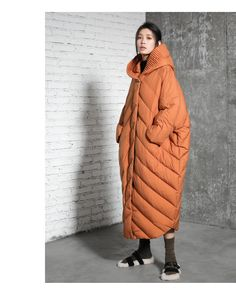 Womens Loose Fitting Silhouette Hooded Cape Down Coats Jacket With Pockets,Down Parka,Casual Down Parka, Long Down Coats,Down Coats For Lady Down Parka, Down Coat, Parka Outfit, Casual Skirt Outfits, Style Casual, Ladies Dress Design, Winter Coat, Coats For Women, Ukraine