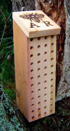 Welcome, bees. (another type of mason bee house)