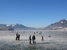 THEMA: Eislaufen ORT: Strobl REGION: Salzkammergut BUNDESLAND: Salzburg LAND: Österreich ©WTG
