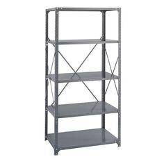 Industrial Gray 48 x 12 Shelf Six-Pack