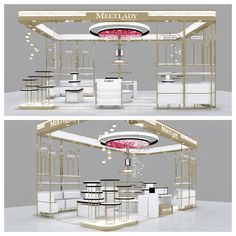 display panel MEETLADY Cosmetic Showcase, which is located in Wanda Square in China The materials that we use for producing this item are HDF board, iron, environmental lac Kiosk Design, Booth Design, Retail Design, Store Design, Signage Design, Corporate Design, Design Design, Graphic Design, Exhibition Stall