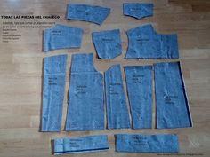 Como hacer un chaleco vaquero. Tutorial y patrones gratis. Sewing a denim vest with free patterns