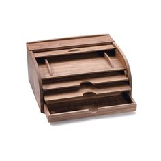 Walnut Rolltop Letter and Document Storage_01