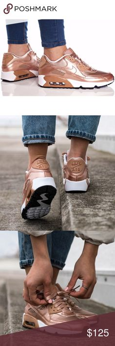 Nike air max 90 se ltr rose gold metallic bronze Shoes are a size 5 youth which is a women's size 7.5. I added a sizing chart for reference. No box Nike Shoes Sneakers