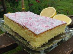 Zitronen- Buttermilch- Kuchen vom Blech