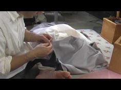 和裁、着物の縫い方、褄あげ3 - YouTube