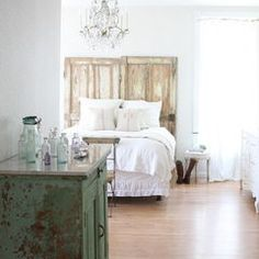 eclectic bedroom by Dreamy Whites