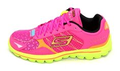 36e884a36365 Skechers  GO Walk 2 Flash Hot Pink-Lime