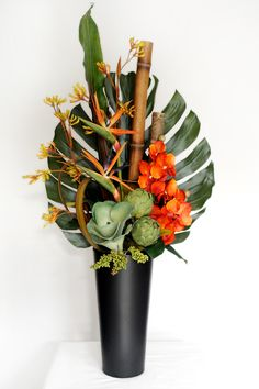 The 11 best artificialflowers images on pinterest artificial artificial flower arrangements tropical orchids how to arrange artificial flowers in a tall vase tutorial pictures for fake silk floral developments how mightylinksfo